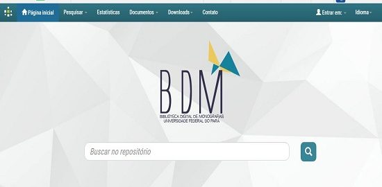 imagem da tela do site BDM